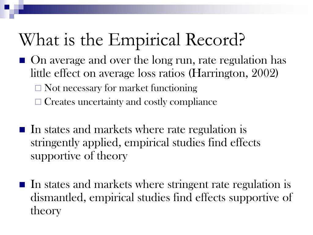 What is the Empirical Record?