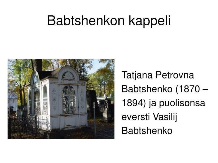 Babtshenkon kappeli