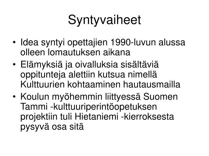 Syntyvaiheet