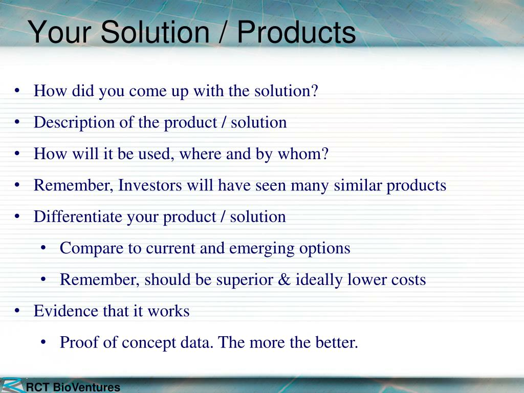 Your Solution / Products