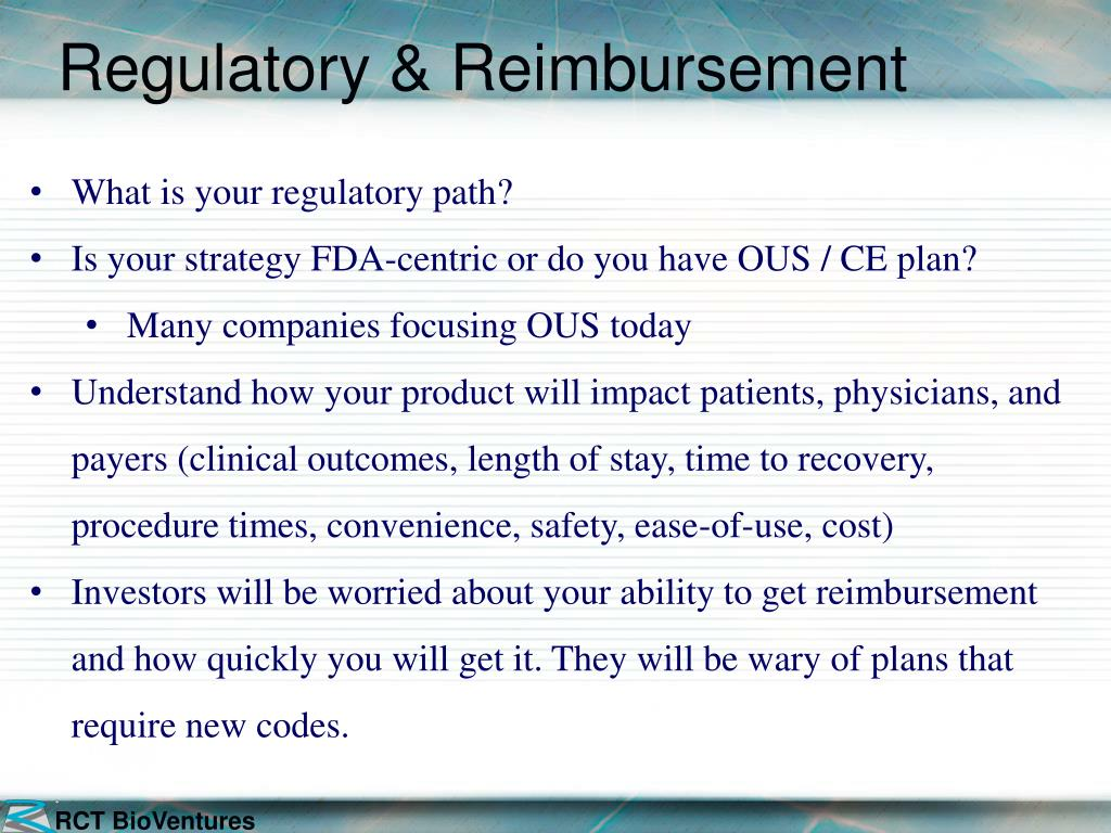 Regulatory & Reimbursement