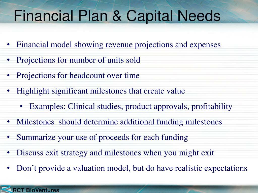 Financial Plan & Capital Needs