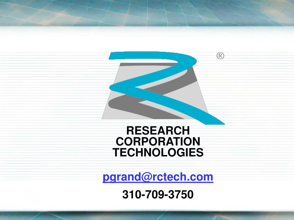 RESEARCH CORPORATION TECHNOLOGIES