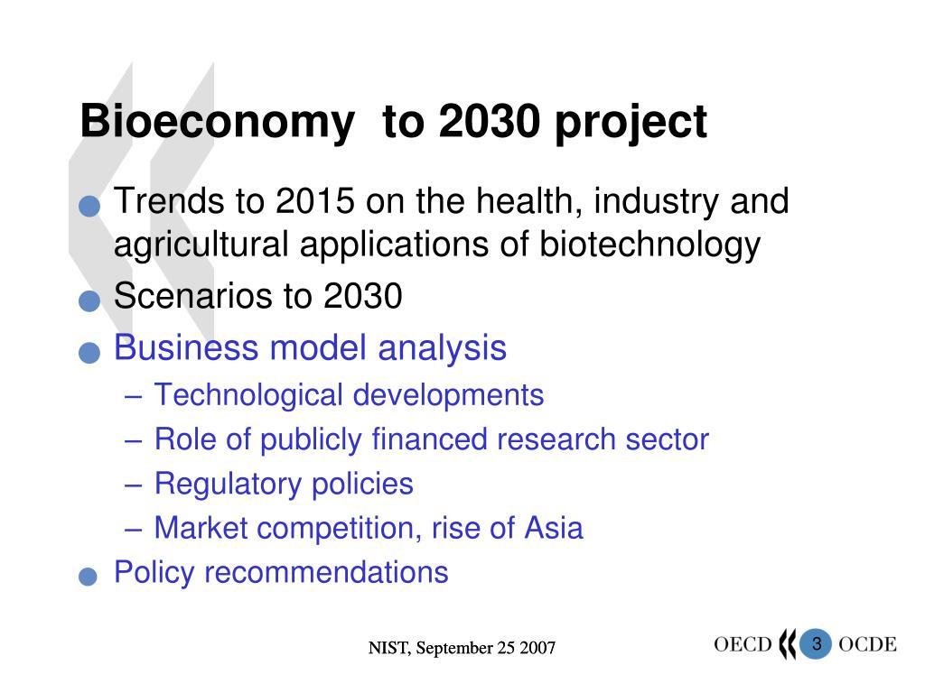 Bioeconomy  to 2030 project