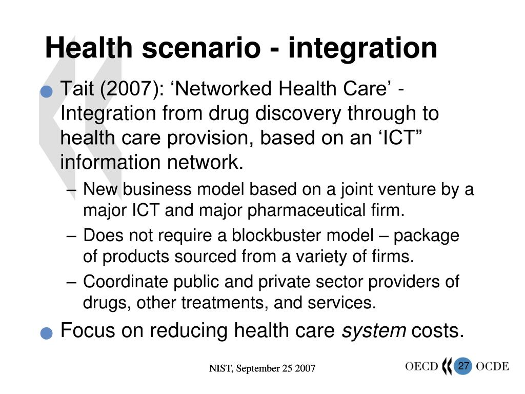 Health scenario - integration