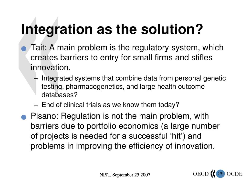 Integration as the solution?