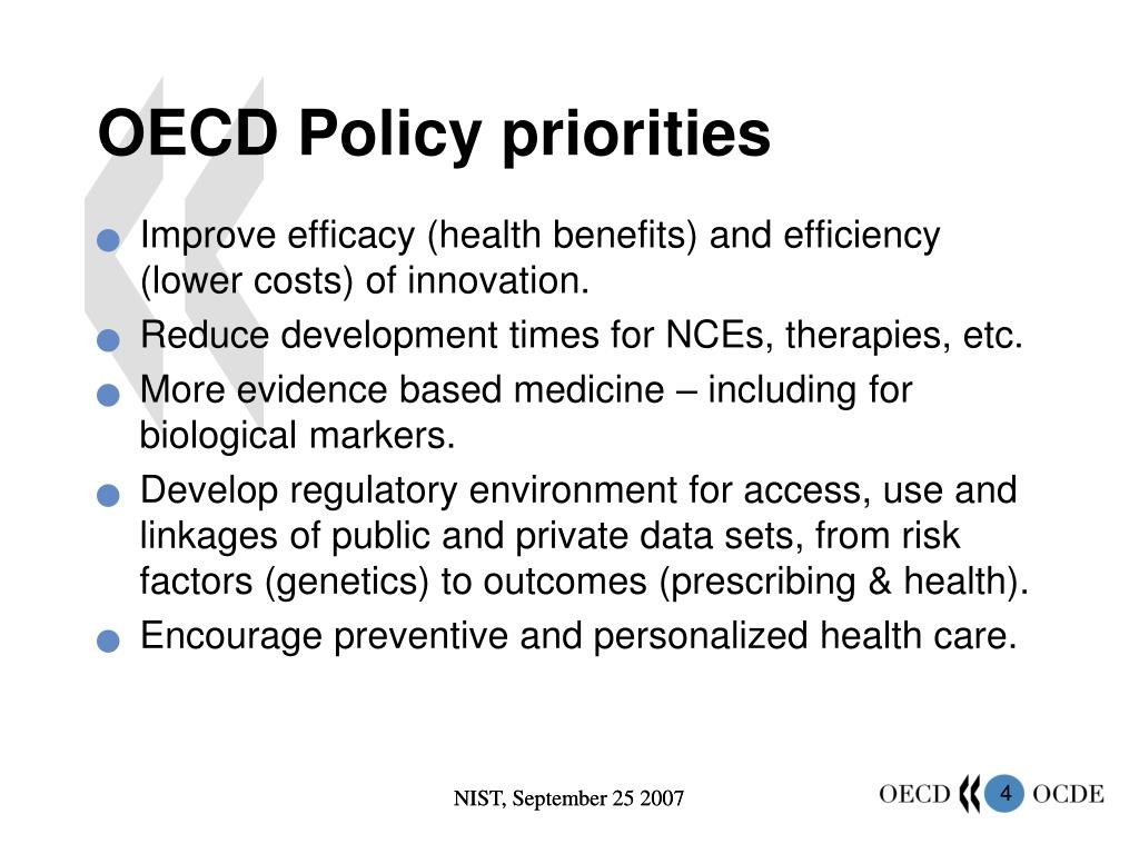 OECD Policy priorities