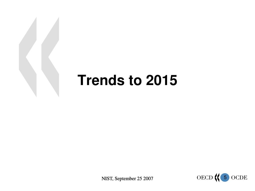 Trends to 2015
