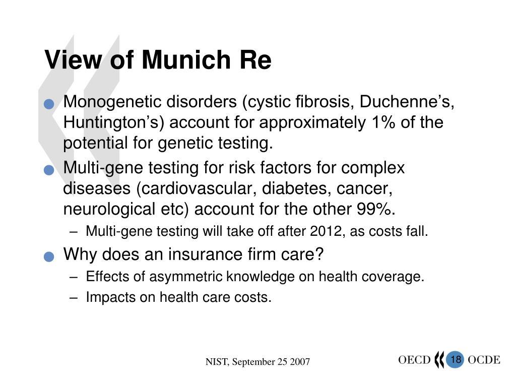 View of Munich Re