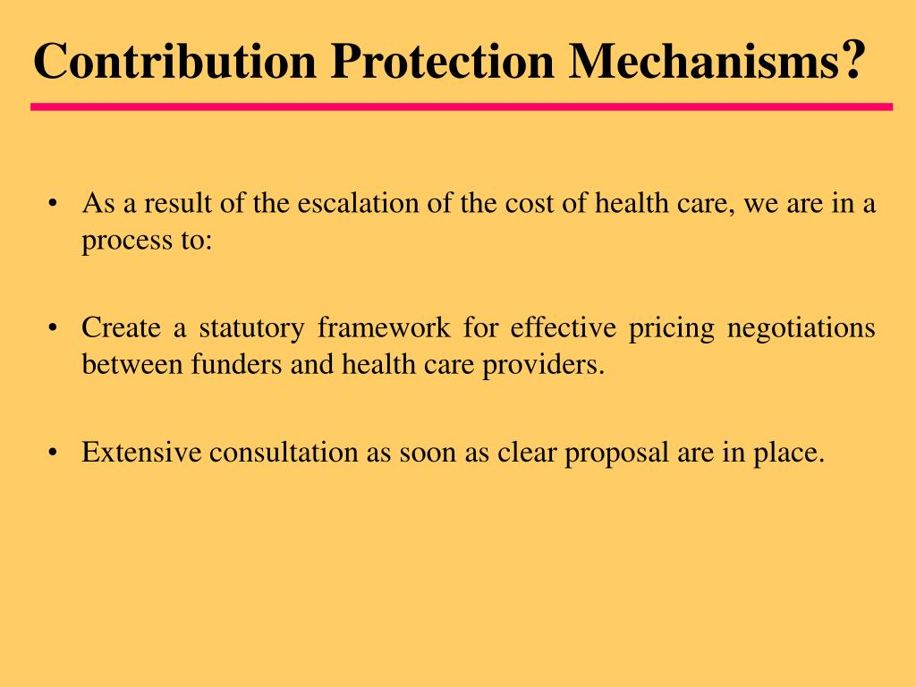 Contribution Protection Mechanisms