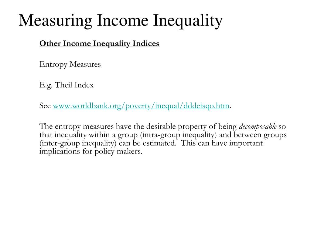Measuring Income Inequality