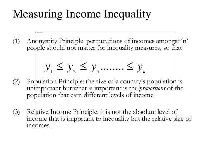 Measuring income inequality3