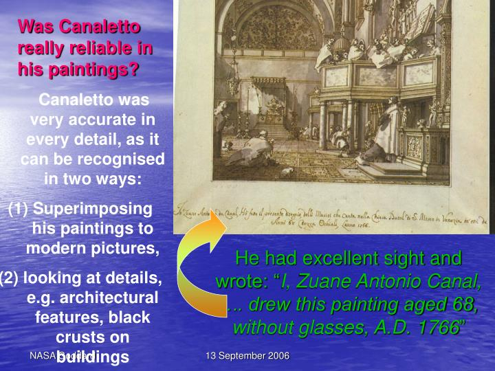 Was Canaletto really reliable in his paintings?