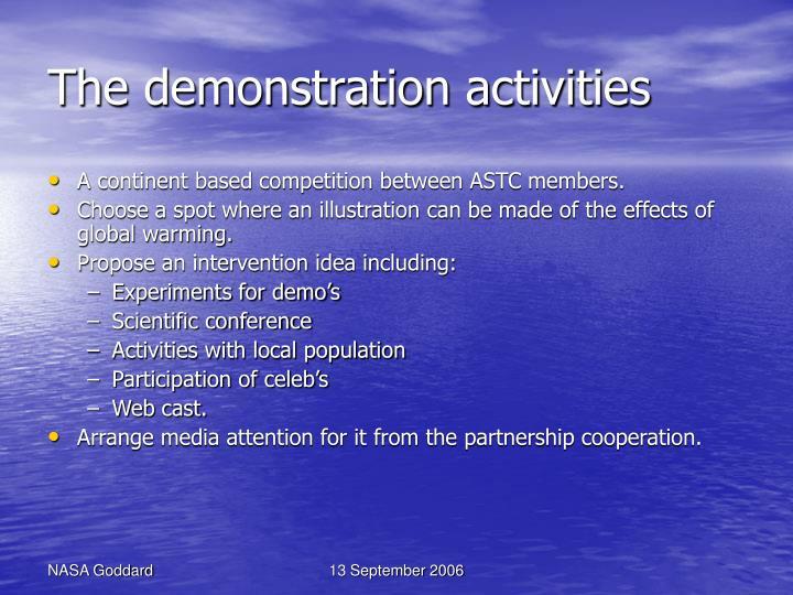 The demonstration activities