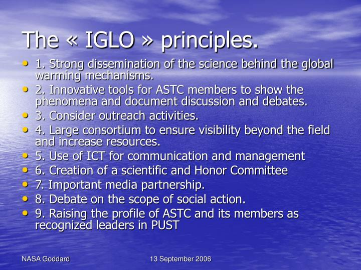The «IGLO» principles.