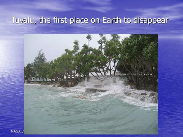 Tuvalu, the first place on Earth to disappear