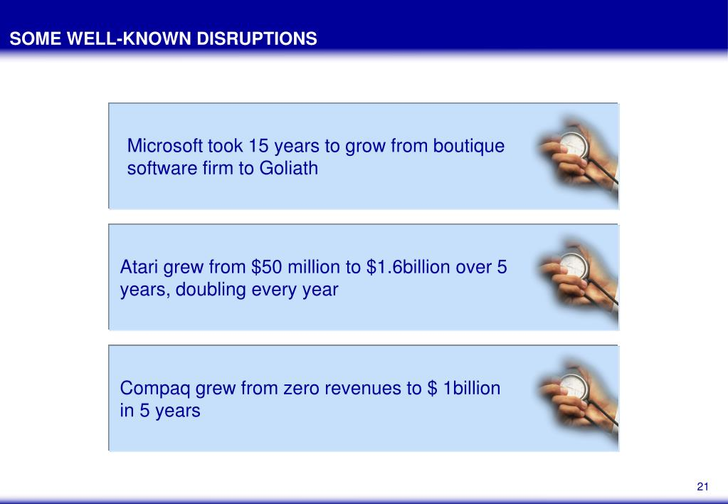 Microsoft took 15 years to grow from boutique software firm to Goliath