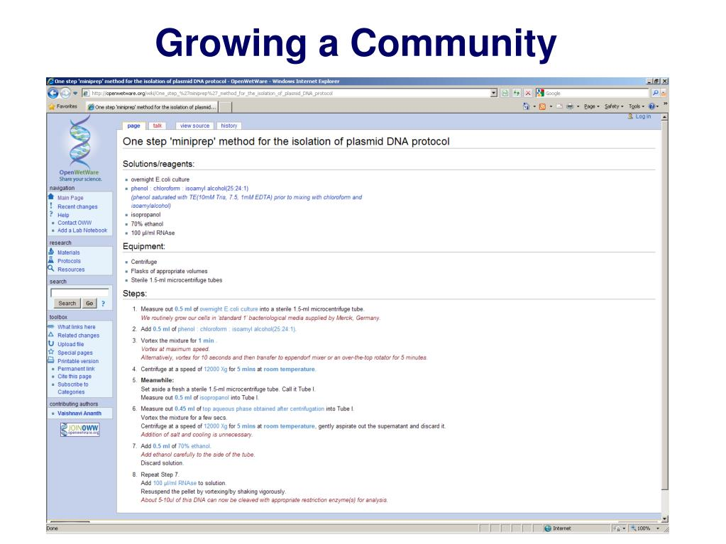 Growing a Community