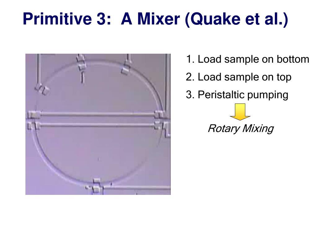 Primitive 3:  A Mixer (Quake et al.)