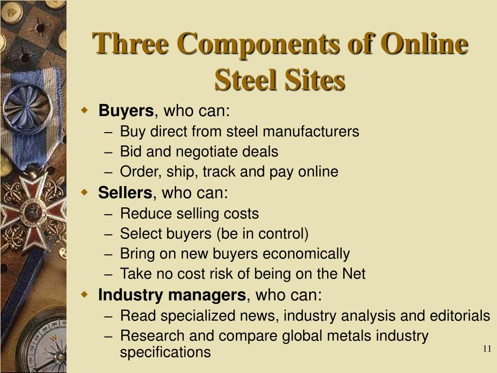Three Components of Online Steel Sites