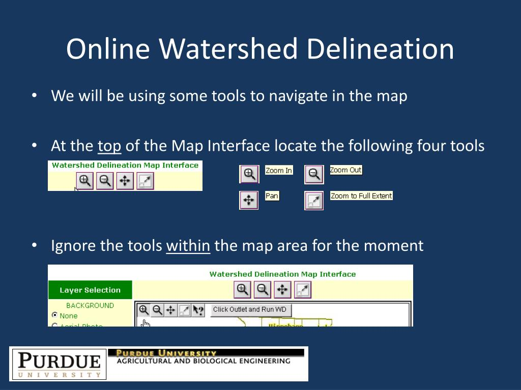 Online Watershed Delineation