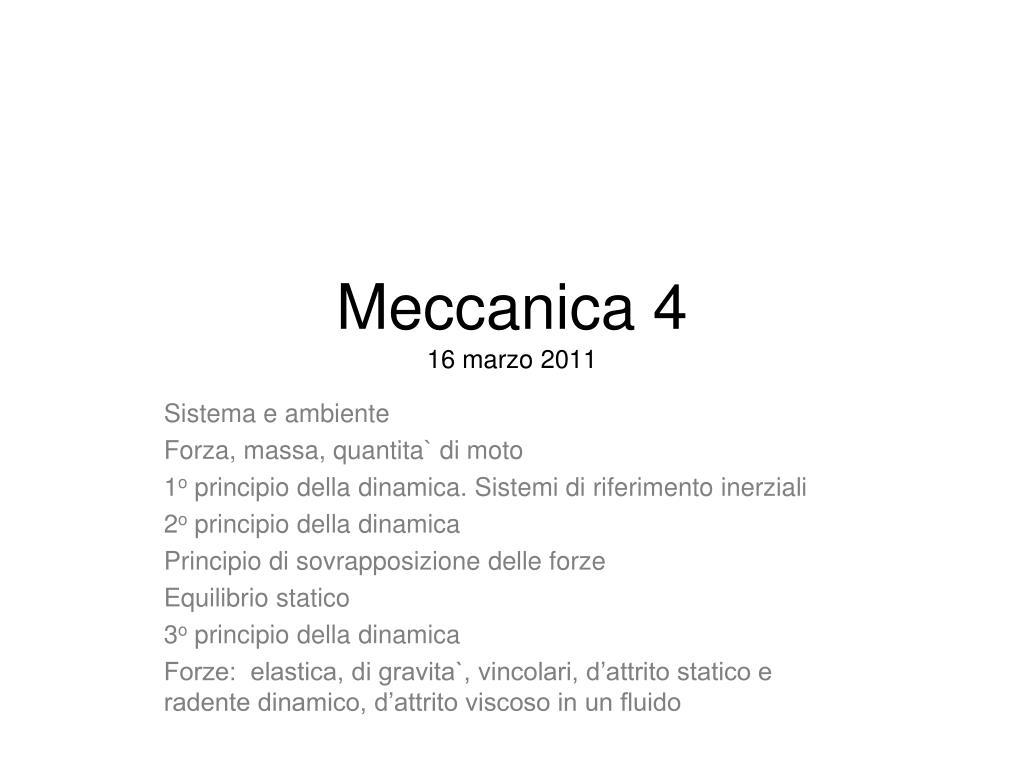 meccanica 4 16 marzo 2011 l.