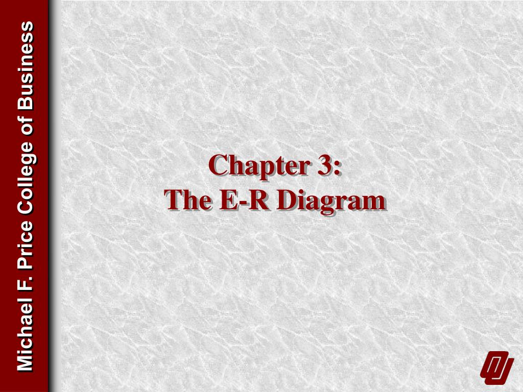 chapter 3 the e r diagram