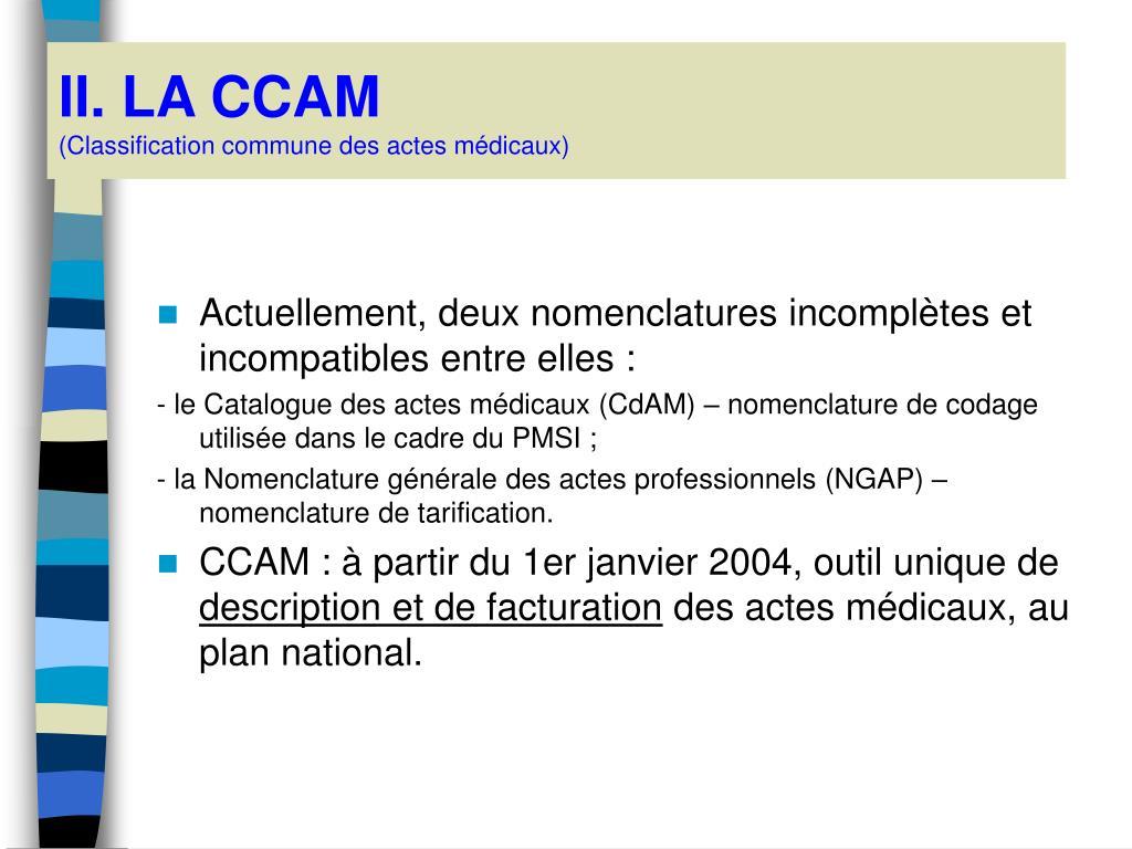 II. LA CCAM