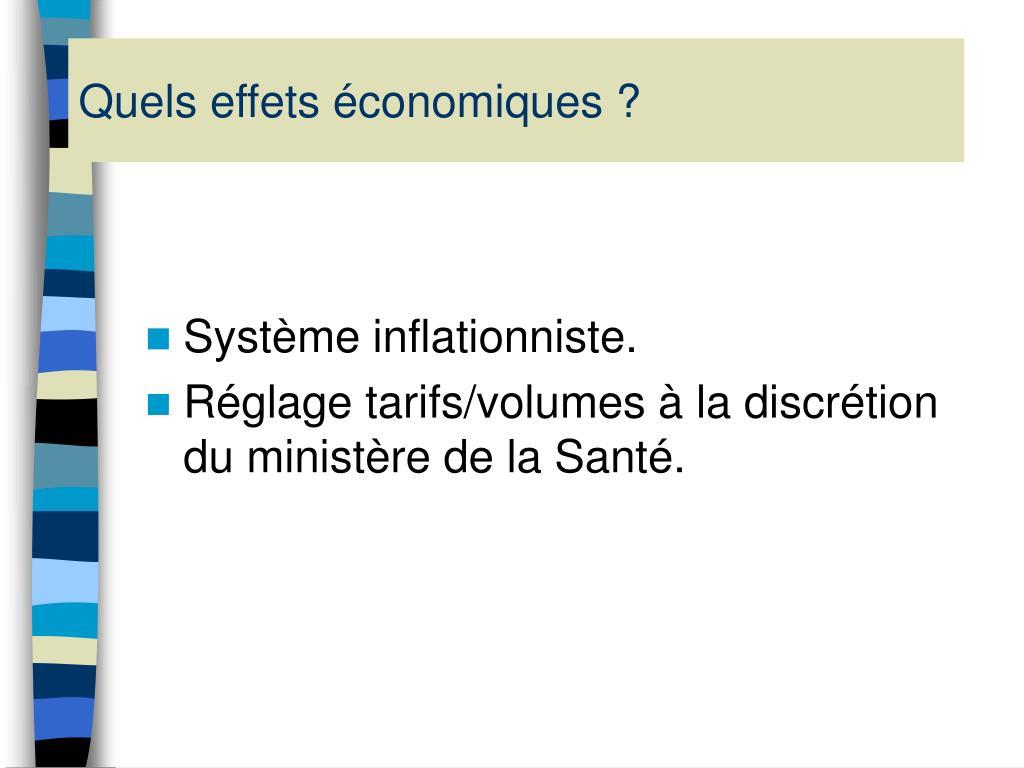 Quels effets économiques ?