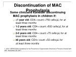 discontinuation of mac prophylaxis49