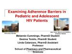 examining adherence barriers in pediatric and adolescent hiv patients
