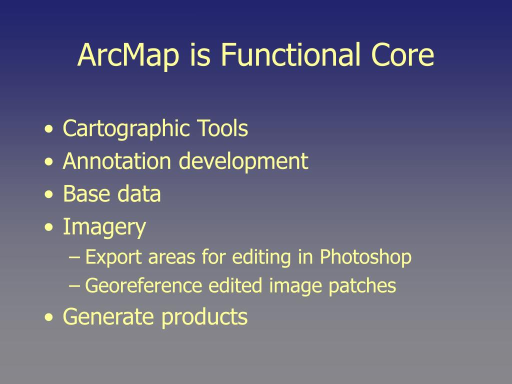 ArcMap is Functional Core