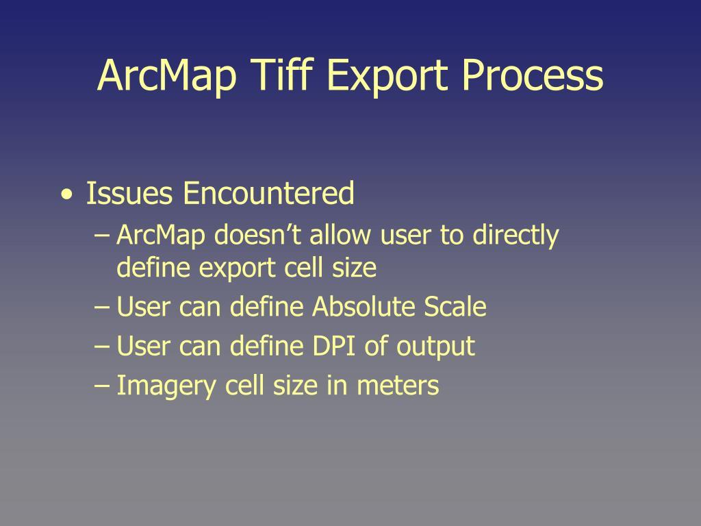 ArcMap Tiff Export Process