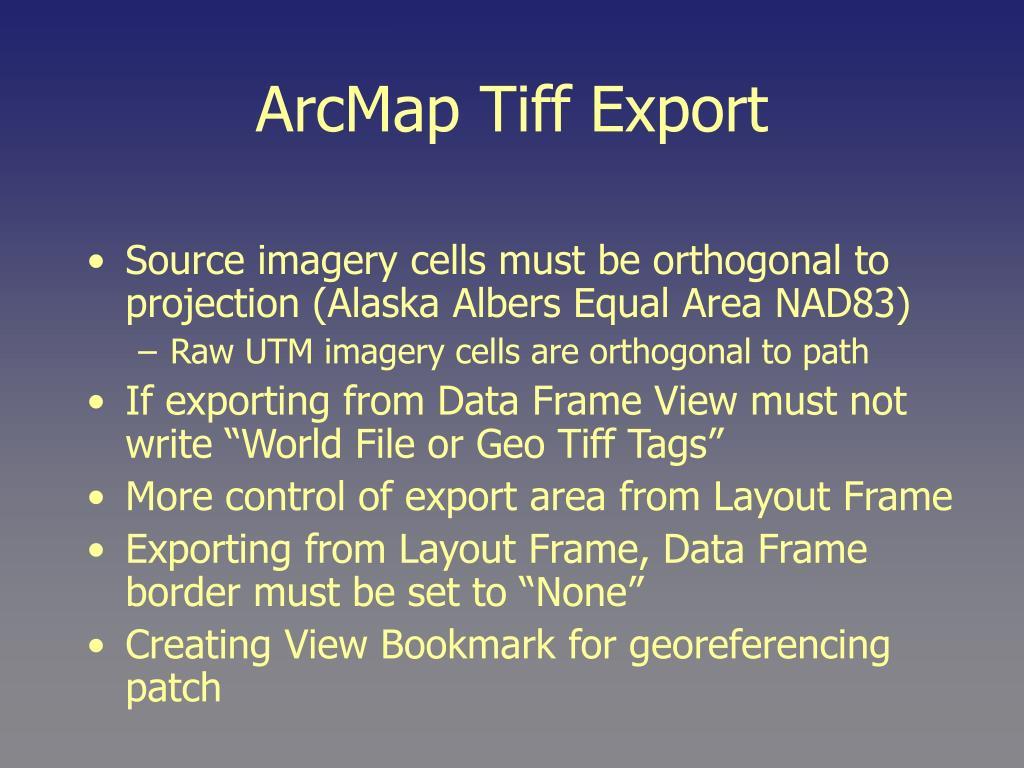 ArcMap Tiff Export