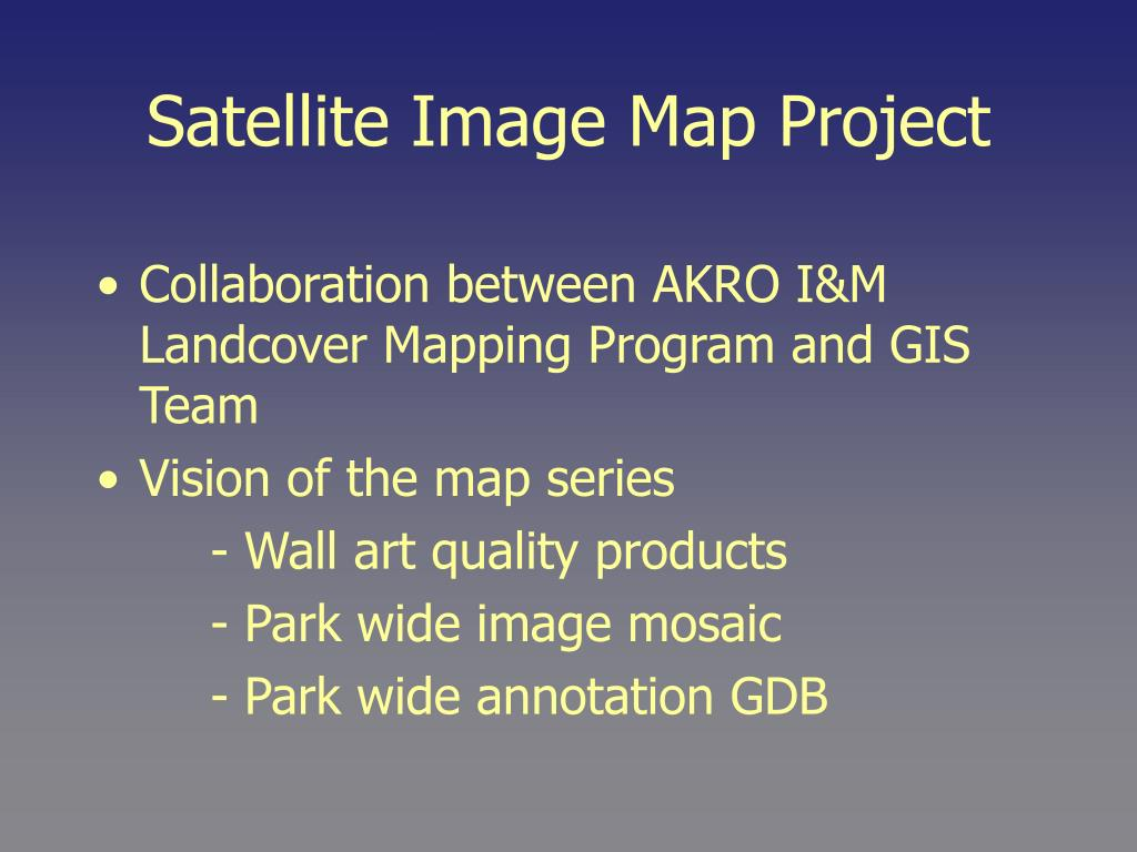 Satellite Image Map Project