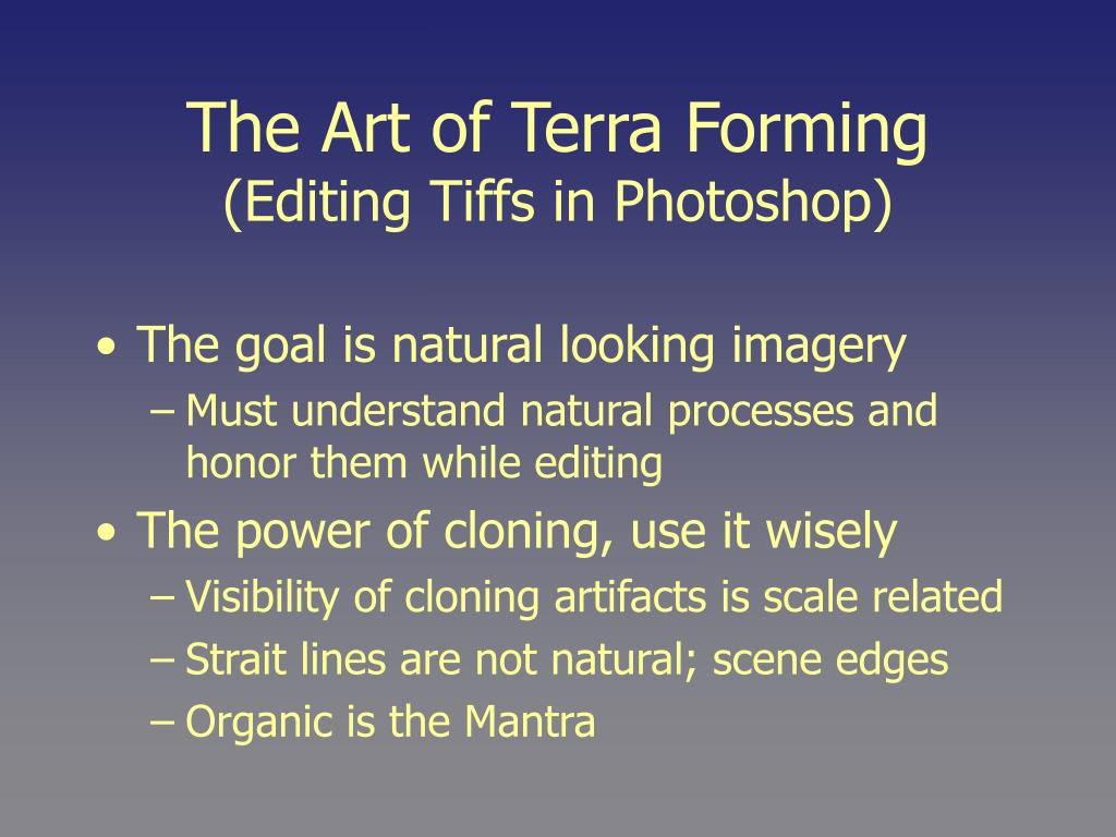 The Art of Terra Forming