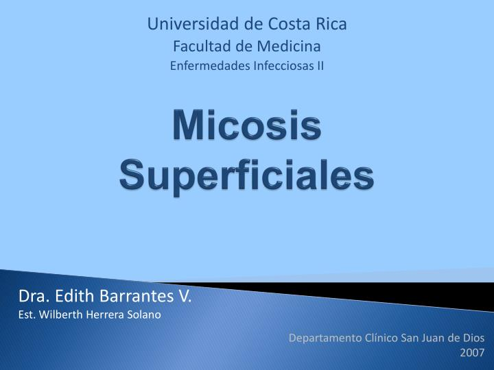 micosis superficiales n.