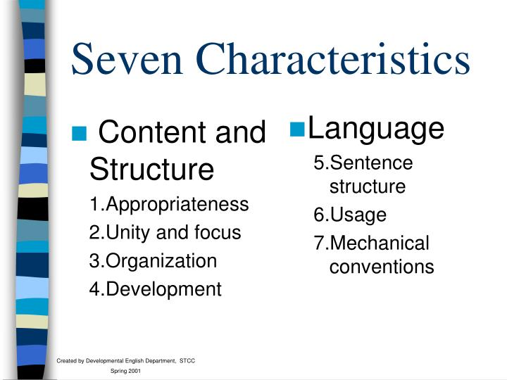 Content and Structure