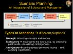 scenario planning an integration of science and management