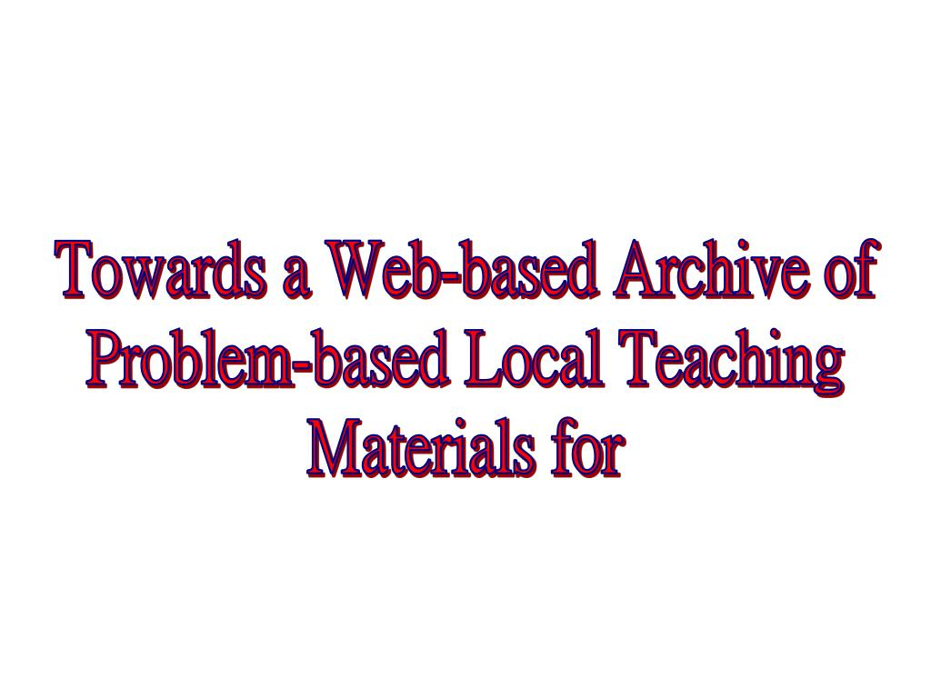 Towards a Web-based Archive of