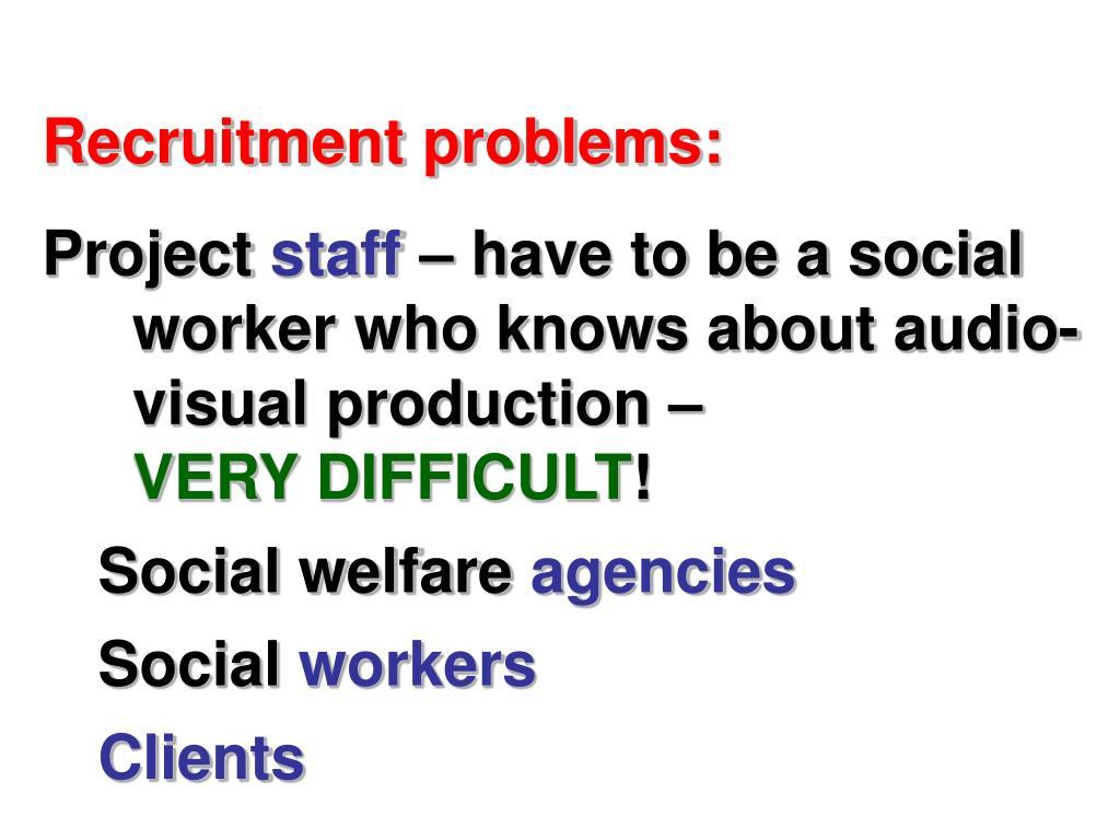 Recruitment problems: