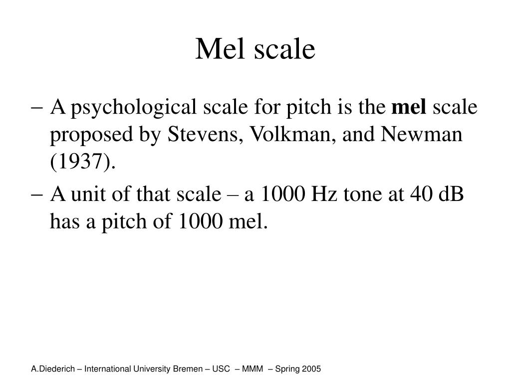 Mel scale