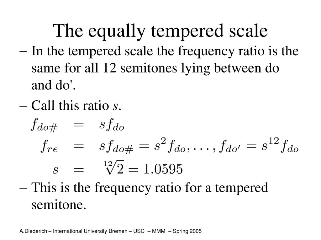 The equally tempered scale