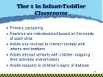 tier 1 in infant toddler classrooms