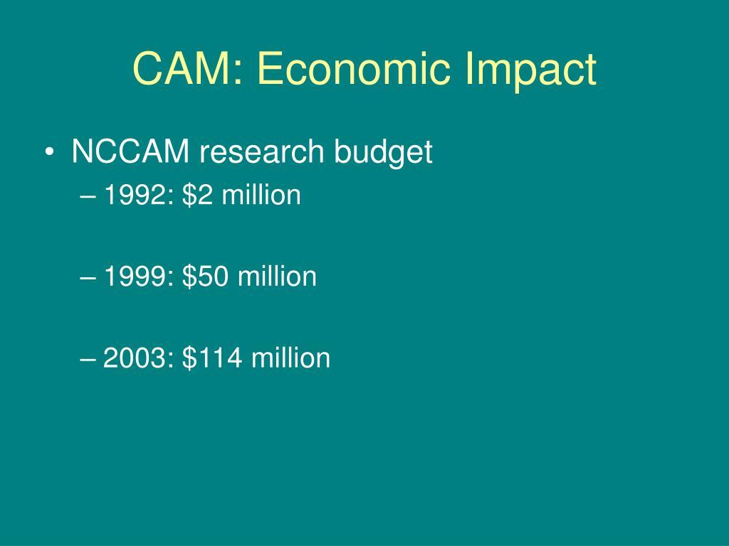 CAM: Economic Impact