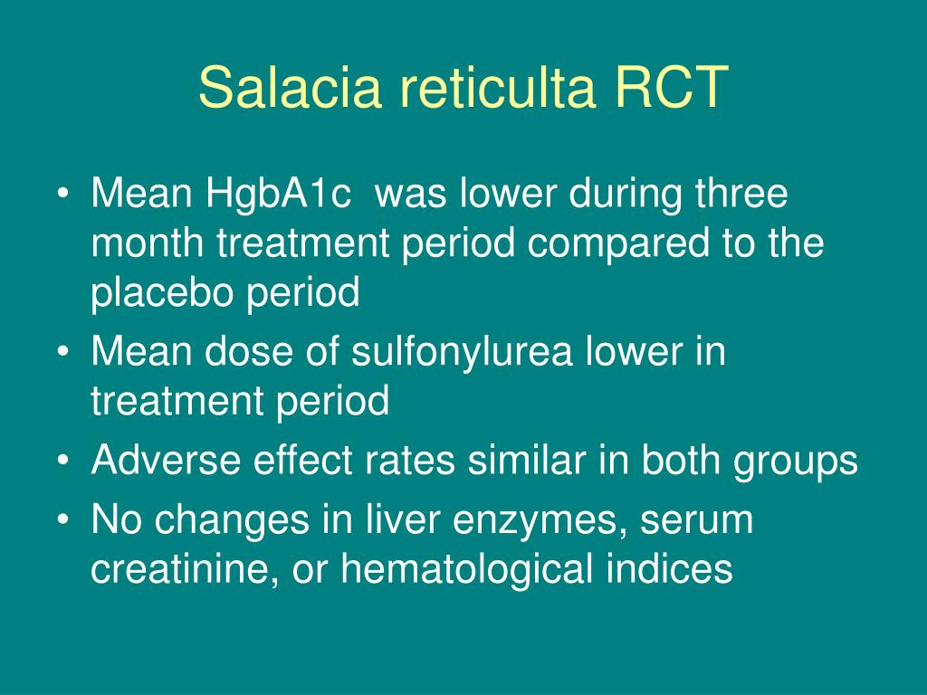 Salacia reticulta RCT