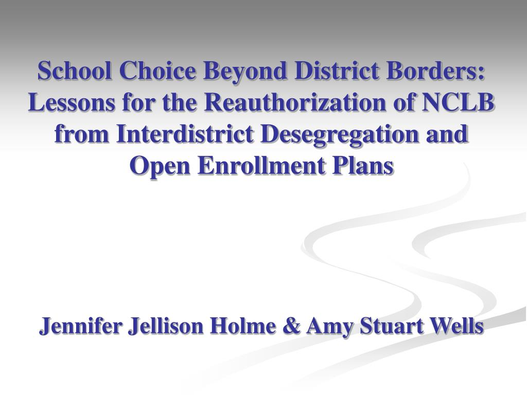 School Choice Beyond District Borders: