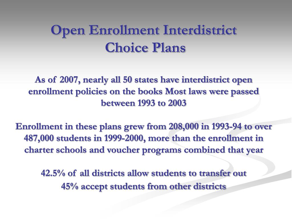 Open Enrollment Interdistrict