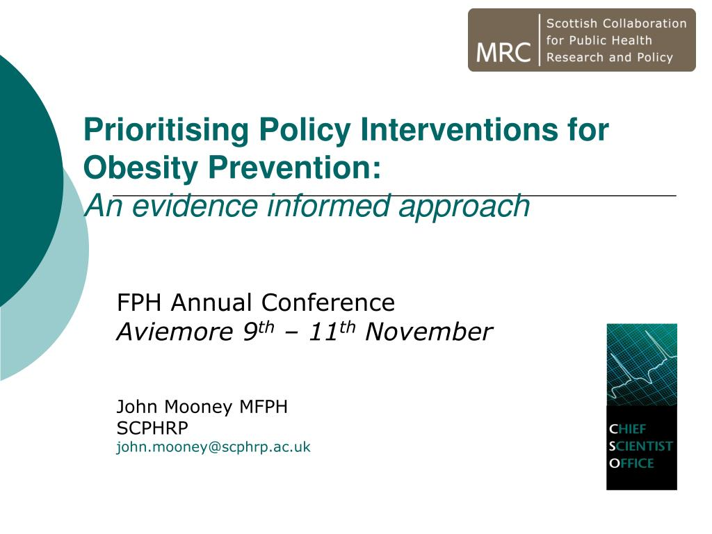 prioritising policy interventions for obesity prevention an evidence informed approach