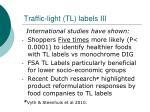 traffic light tl labels iii